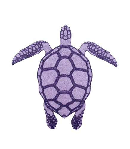 Patch thermocollant tortue violette