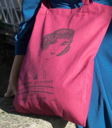 tote bag rouge vintage